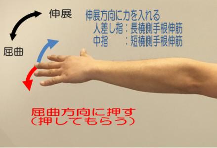 上腕骨外側上顆炎(テニス肘)検査法1