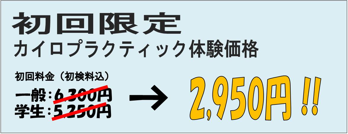カイロプラクティック体験価格